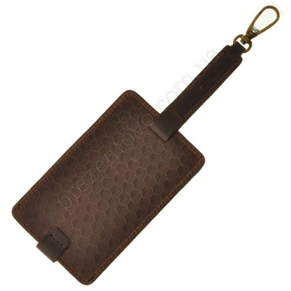 Бирка для багажу BlankNote BN-TAG-1-O-Karbon коричневий