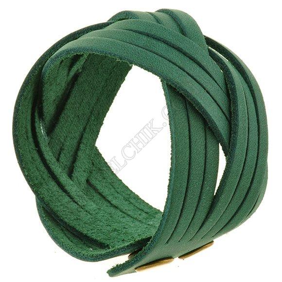 Браслет BlankNote BN-BR-1-iz Crazy Horse зеленый