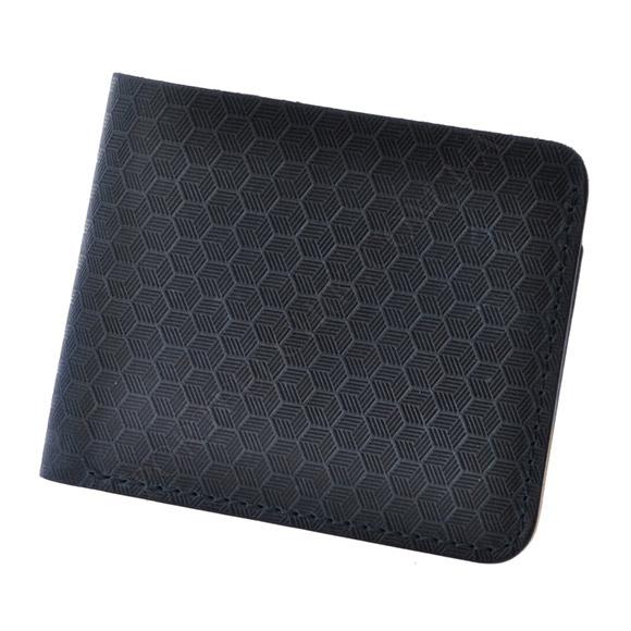 Мужской кошелек BlankNote BN-PM-4-1-NN-Karbon синий