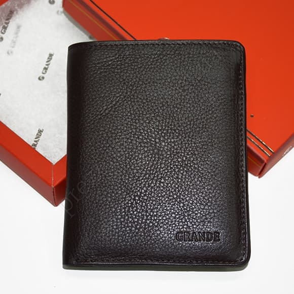 Мужской кошелек Grande 1502-01 коричневый