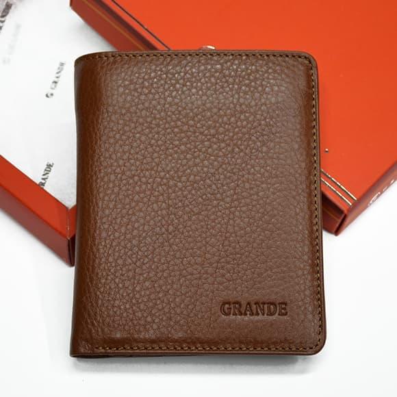 Мужской кошелек Grande 1502-04 коричневый