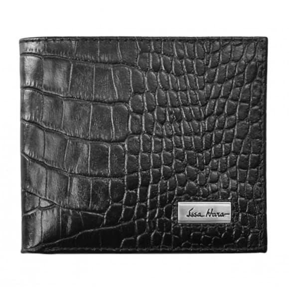 Чоловічий гаманець Issa Hara WB1 (21-00) чорний