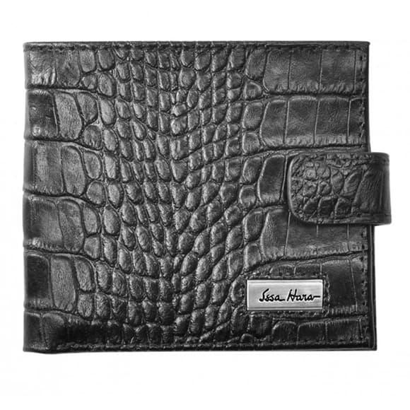 Чоловічий гаманець Issa Hara WB1-1 (21-00) чорний