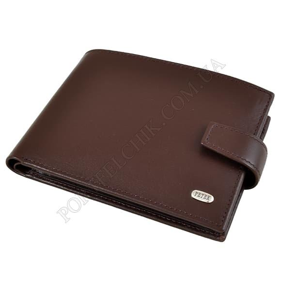 Чоловічий гаманець Petek 102-000-222 коричневий