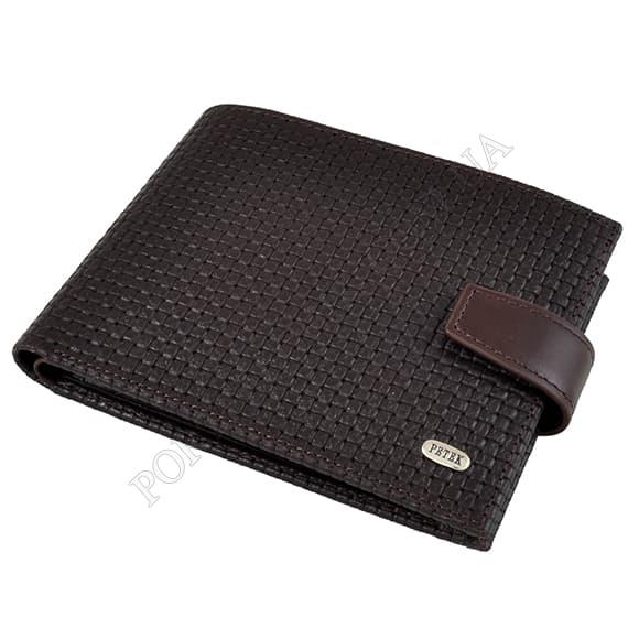 Чоловічий гаманець Petek 102-020-02 коричневий