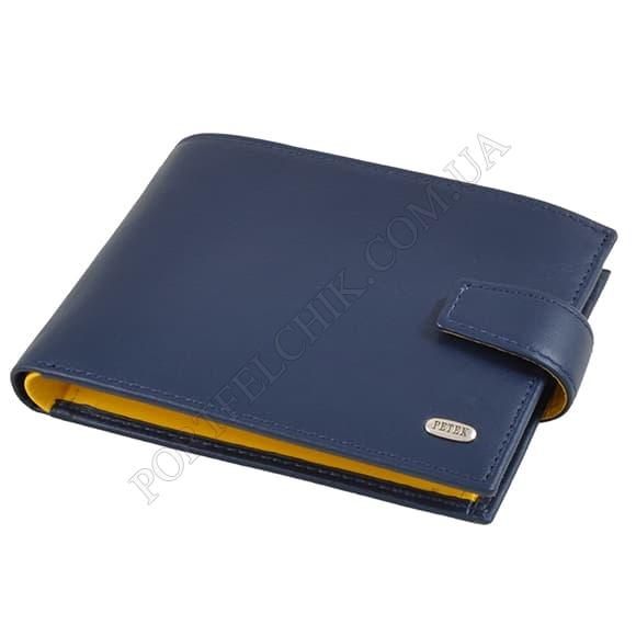 Чоловічий гаманець Petek 102-167-A17 синій, комбінований