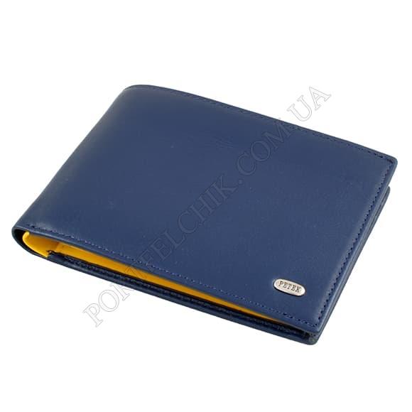 Чоловічий гаманець Petek 113-167-A17 синій, комбінований