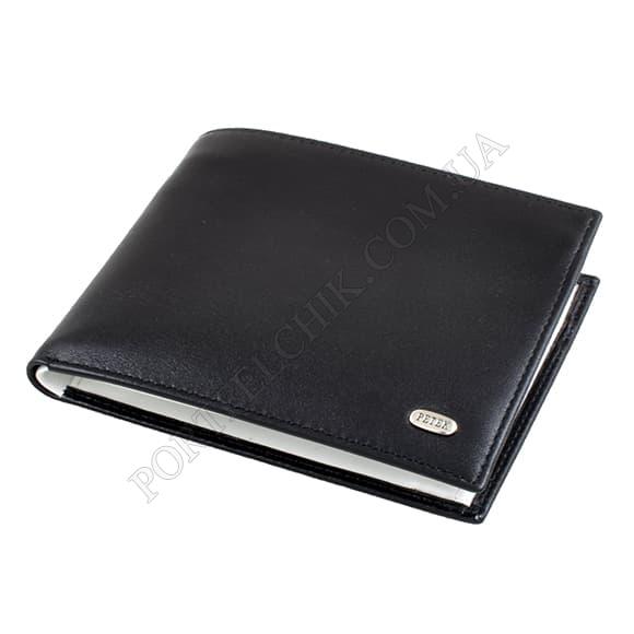 Чоловічий гаманець Petek 114-000-A11 чорний, комбінований