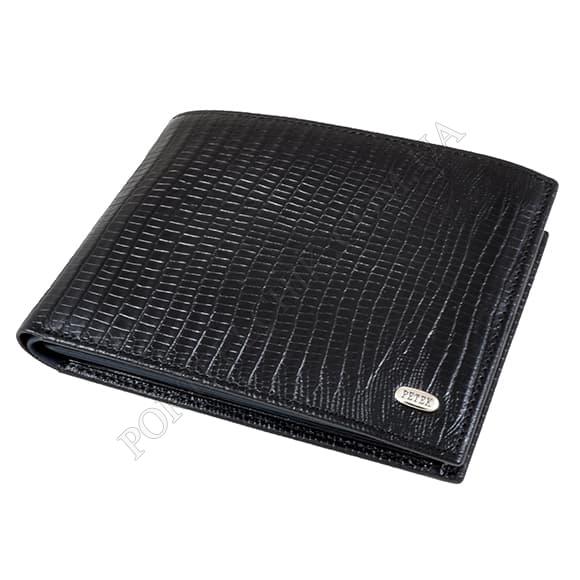 Чоловічий гаманець Petek 131-041-A10 чорний, комбінований