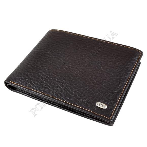 Чоловічий гаманець Petek 131-46B-KD2 коричневий