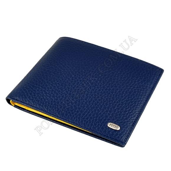 Чоловічий гаманець Petek 140-46BD-A17 синій, комбінований