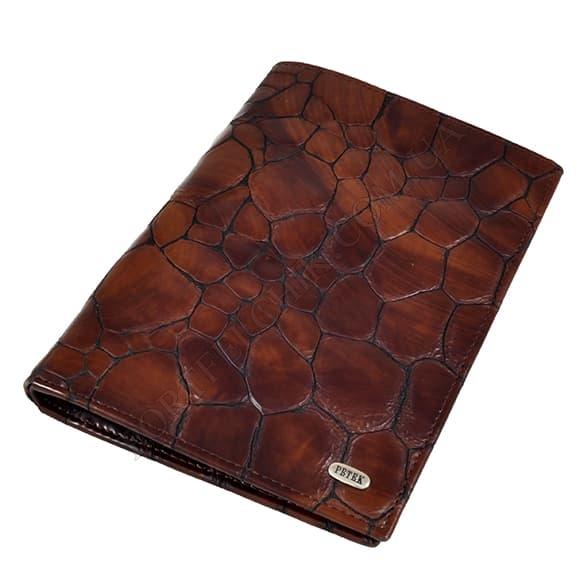 Чоловічий гаманець Petek 144-108-02 коричневий