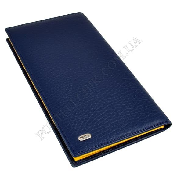 Чоловічий гаманець Petek 244-46BD-A17 синій, комбінований