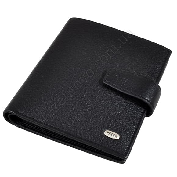 Чоловічий гаманець Petek 287-46RU-01 чорний