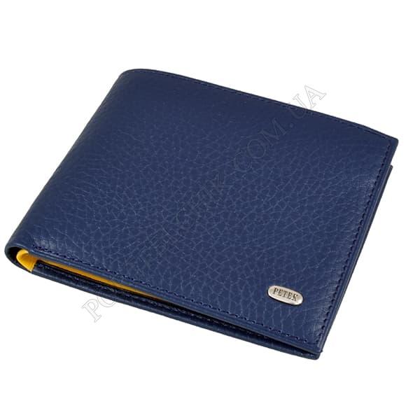 Чоловічий гаманець Petek 299-46BD-A17 синій, комбінований