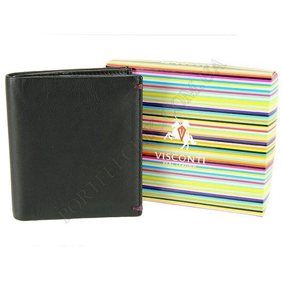 Чоловічий гаманець Visconti AP-61 BL-BG червоний, комбінований