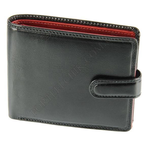 Мужской кошелек Visconti TR-35 BLK-RED черный, комбинированный