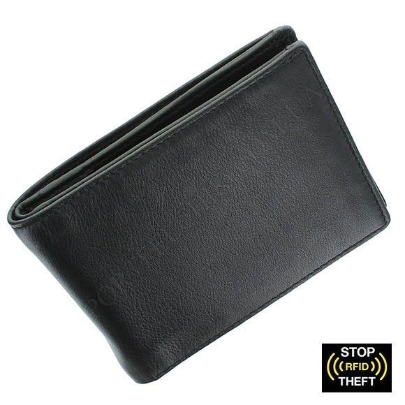 Мужской кошелек Visconti VSL-20 BL-Cobalt черный, комбинированный