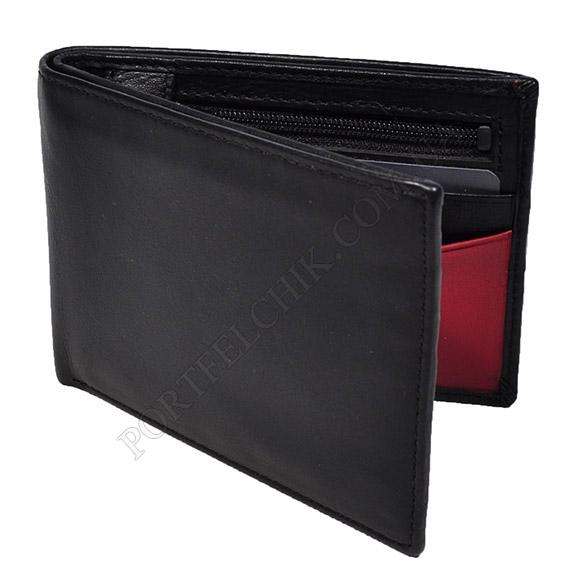Мужской кошелек Visconti VSL-20 BL-RED черный, комбинированный