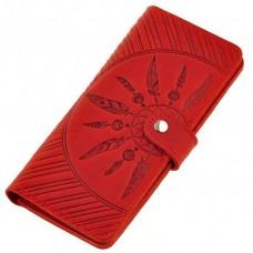 Кожаный женский кошелек BlankNote BN-PM-7-Coral-Ls