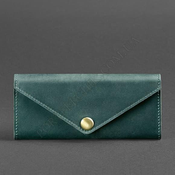 Жіночий гаманець BlankNote BN-W-1-IZ Crazy Horse зелений