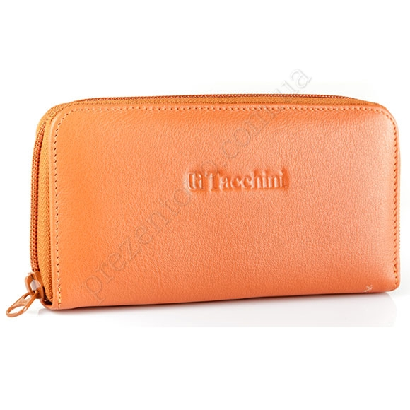 Кожаный женский кошелек Tacchini NP 665 OR