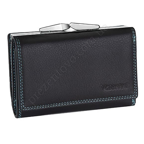 Жіночий гаманець Valentini 123-386-1 чорний, комбінований