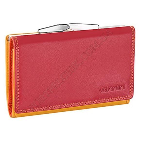 Жіночий гаманець Valentini 123-386-4 червоний, комбінований