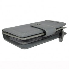 Кожаный женский кошелек Visconti AR-25 Gray-Silver