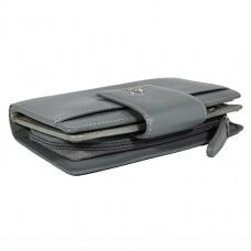 Кожаный женский кошелек Visconti CP-32 Gray-Silver