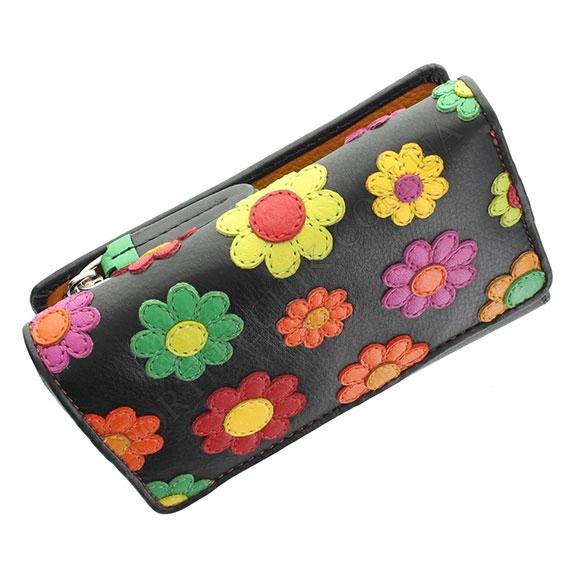 Шкіряний жіночий гаманець Visconti DS-81 Black Pace