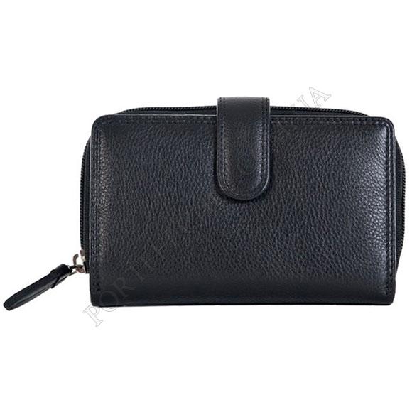 Шкіряний жіночий гаманець Visconti HT-33 Black