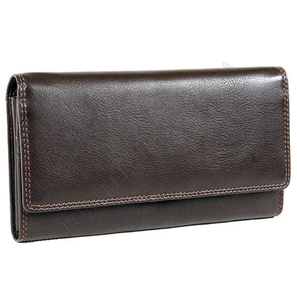 Кожаный женский кошелек Visconti HT-35 Choco