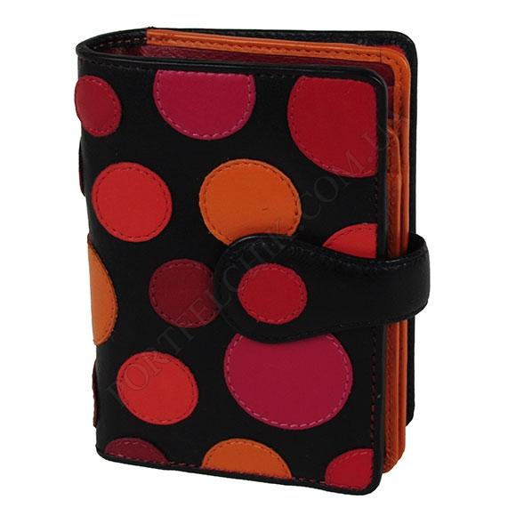 Жіночий гаманець Visconti P-1 Very Berry чорний, кольорові
