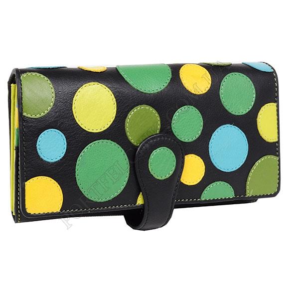 Жіночий гаманець Visconti P-2 Lily Pad чорний, кольорові