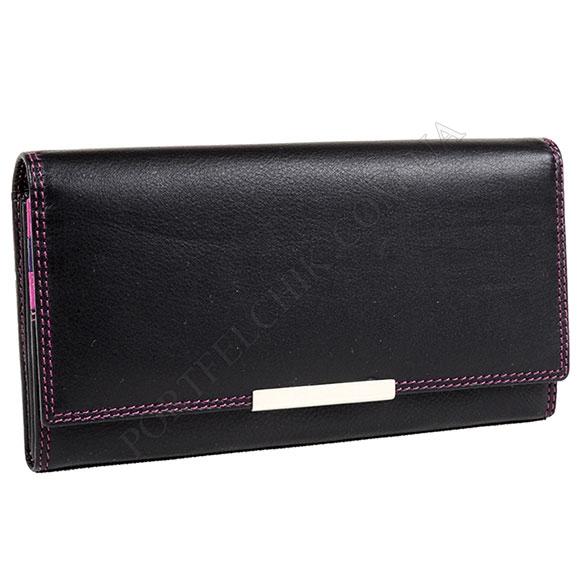 Жіночий гаманець Visconti R-11 Black-Berry чорний