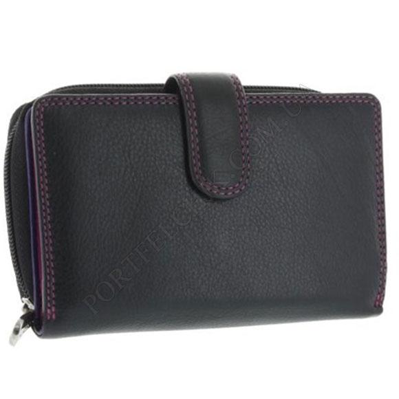 Шкіряний жіночий гаманець Visconti R-13 Black-Berry