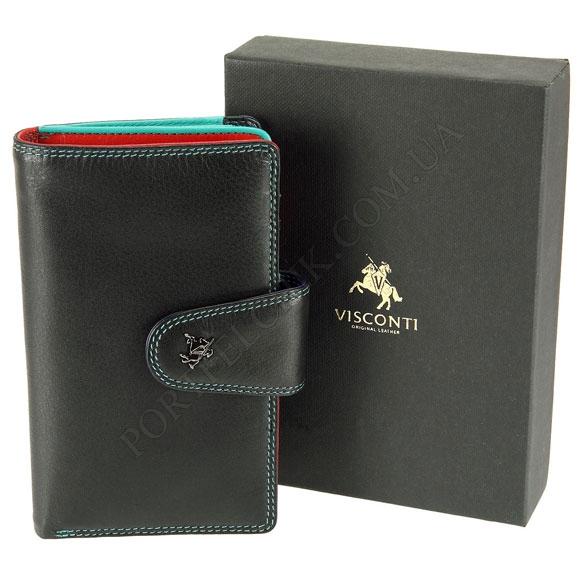 Шкіряний жіночий гаманець Visconti SP-30 Black