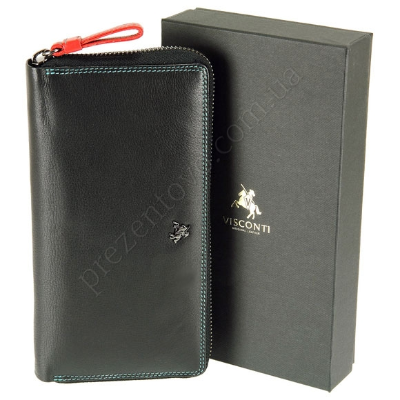 Женский кошелек Visconti SP-33 Black черный