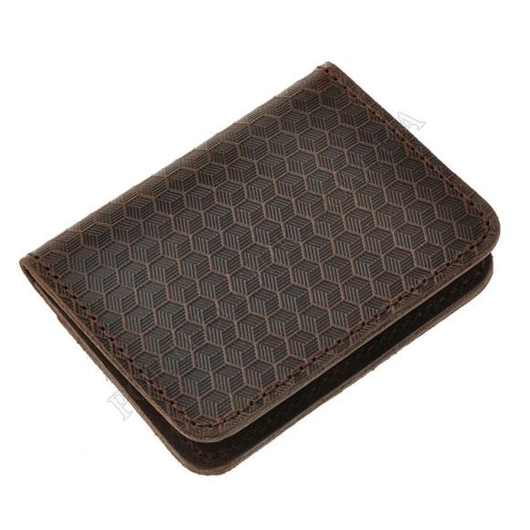 Обкладинка на id паспорт BlankNote BN-KK-4-O-Karbon коричневий