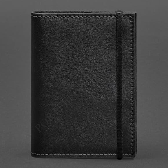 Обложка на паспорт BlankNote BN-OP-1-G черный