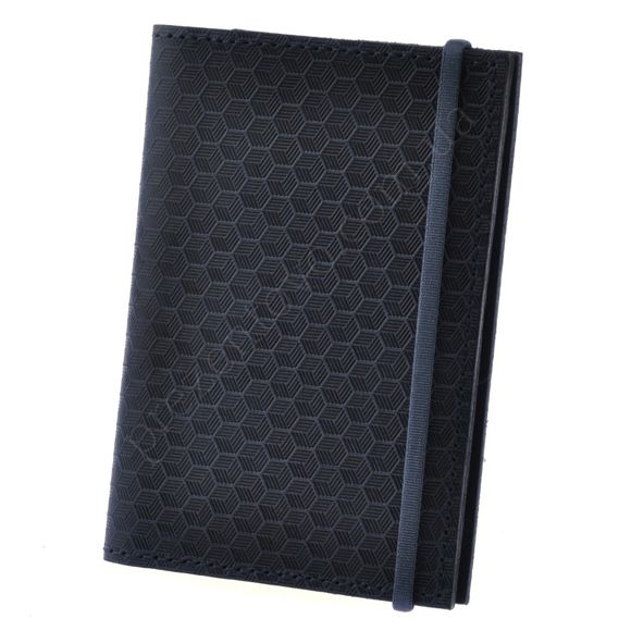 Обкладинка на паспорт BlankNote BN-OP-2-NN-Karbon синій