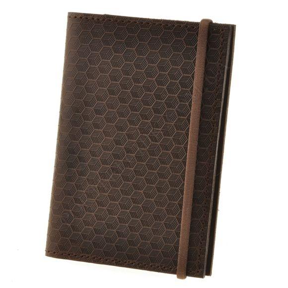 Обложка на паспорт BlankNote BN-OP-2-O-Karbon коричневый