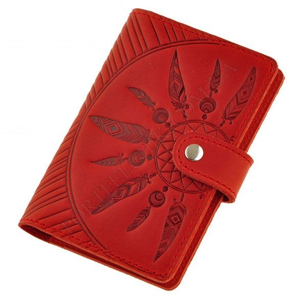Обложка на паспорт BlankNote BN-OP-3-Сoral-Ls красный