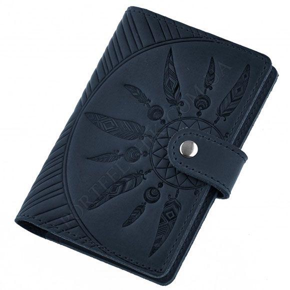 Обкладинка на паспорт BlankNote BN-OP-3-NN-Ls Crazy Horse синій
