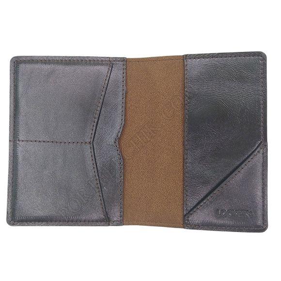 Обкладинка для паспорта з RFID захистом коричнева Locker Pas Brown Emblem