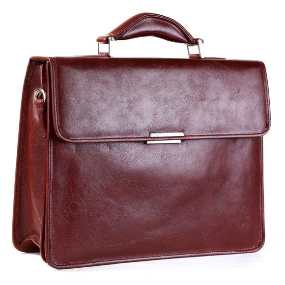 Портфель кожаный Gufo PB 72398 BR