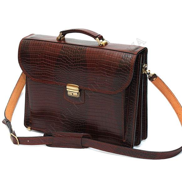 Портфель Manufatto РВМ-1 Croco Brown коричневый