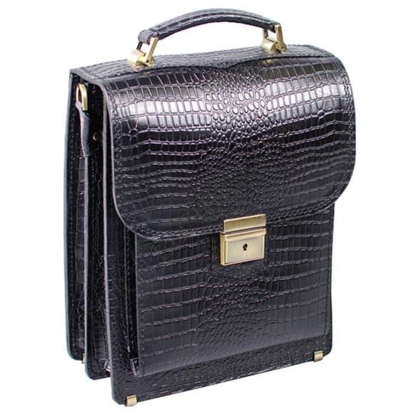 Портфель Manufatto СПБ-2 Croco Black чорний
