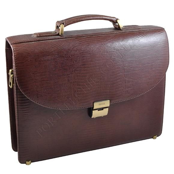 Портфель Petek 844-041-02 коричневий